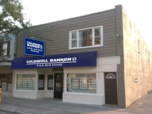 The new Beaverton office of Coldwell Banker R.M.R. Real Estate, with digitally applied signage.