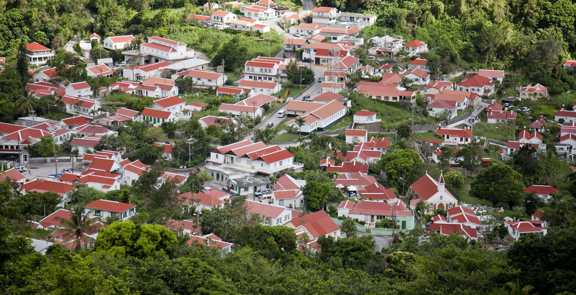 It's the law: All houses look the same in Saba