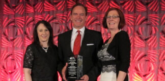 From left: Shanan Spencer-Brown, executive director, Royal LePage Shelter Foundation; Phil Soper, president and CEO, Royal LePage; and Lorraine McLachlan, president and CEO, Canadian Franchise Association.