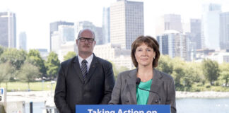 B.C. Finance Minister Mike de Jong and Premier Christy Clark announce the end of self-regulation for the province's real estate industry.