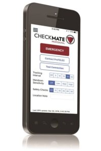 The CheckMate app sends out an alarm with GPS co-ordinates.
