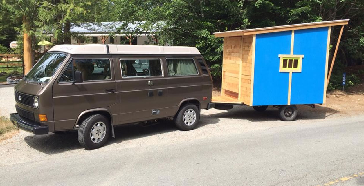 The tiny house on wheels was a perfect addition for the overcrowded camper van.