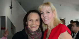 Anita Springate-Renaud, right, owner and broker of record of Engel & Völkers Toronto Central with Sonja Bata, founding chair of Bata Shoe Museum, at the official opening of Engel & Völkers Toronto Central.