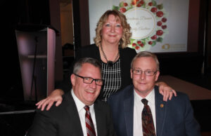 From left: DRAR 2017 president Roger Bouma, DRAR 2016 president Sandra O'Donohue and  John Henry, mayor of the City of Oshawa.