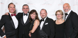 Royal LePage CEO Phil Soper, with Shelter Gala guests and Royal LePage sales reps Ara Yeremian, Tracey Flanigan, Colby Bayne, Joanne Tibbles and Steve Kotan.