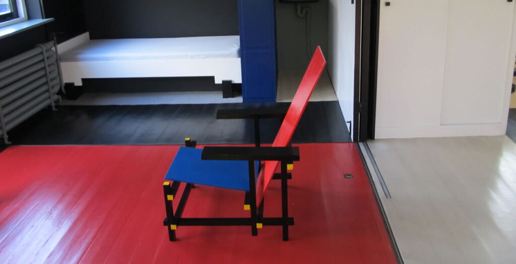 Rietveld's famous red chair