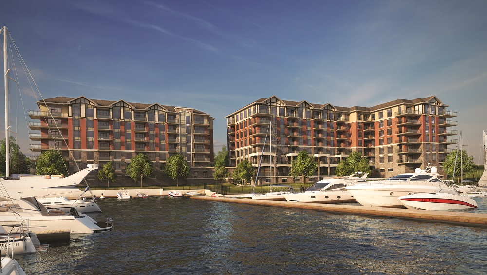 The waterfront condos are attracting interest from retirees in Toronto and Ottawa.