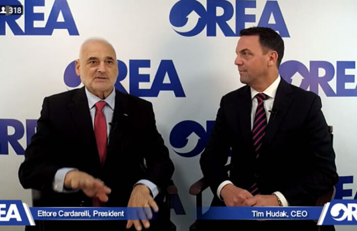 Ettore Cardarelli and Tim Hudak during the livestream event.