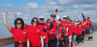 A group from Sutton Group – West Coast Realty (White Rock) took part in the Hike for Hospice.