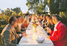 The feast in Oakville's Gairloch Gardens supports artistic programming.