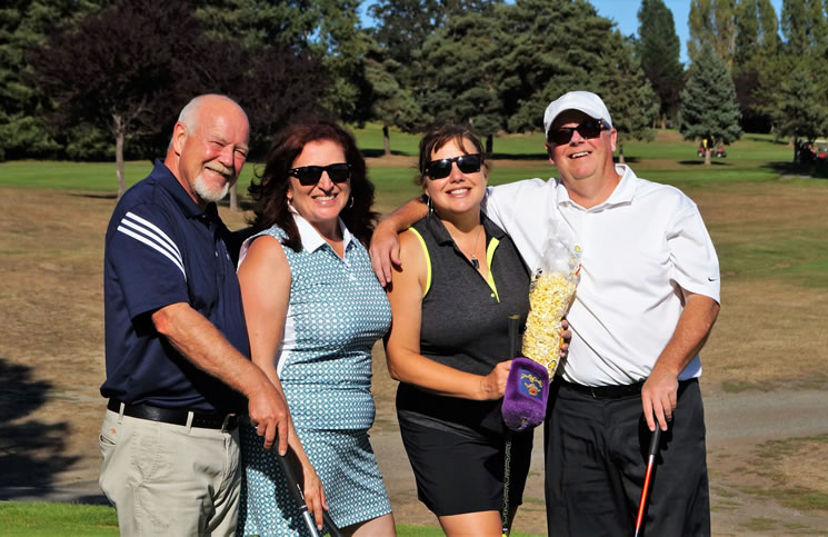 Royal LePage Coast Capital Realty Golf Party for Shelter participants, from left: Al Turnbull, Rosemarie Colterman, Tammi Dimock and Peter Faulkner.