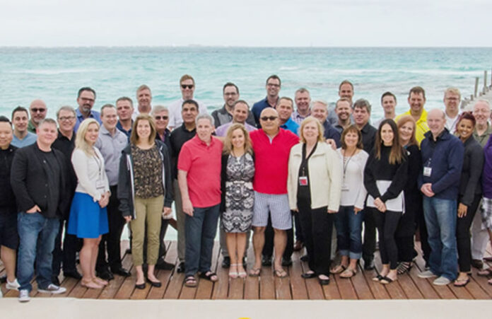 The Century 21 Canada Chairman's Circle group in Cancun, Mexico.