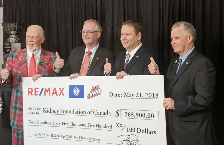 Re/Max of Western Canada suits up with Don Cherry and the