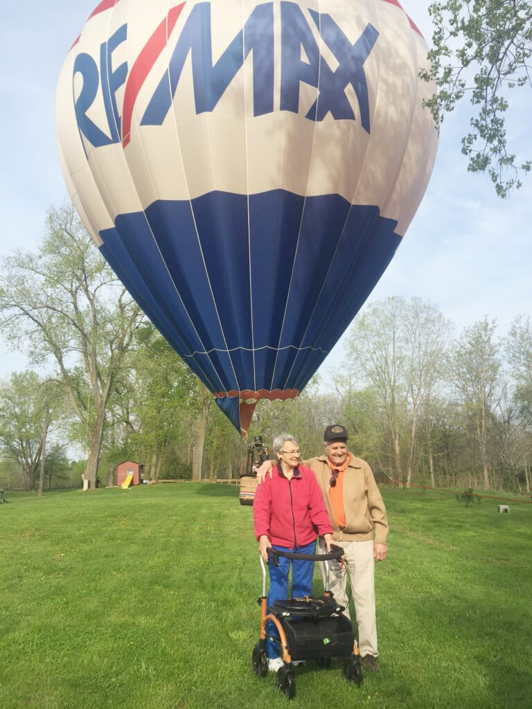 Diana and Peter took a ride in the Re/Max balloon in Welland, Ont.