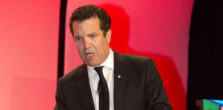 Rick Mercer performs at the Royal LePage National Sales Conference.