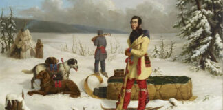 Scene in the Northwest: Portrait of John Henry Lefroy, a painting by Paul Kane.