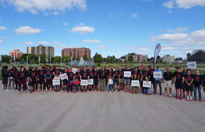 Participants at the event in Halifax came out to raise awareness about ending gender-based violence.