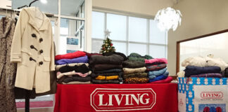 Living Realty collected 200 coats for the local clothing bank.