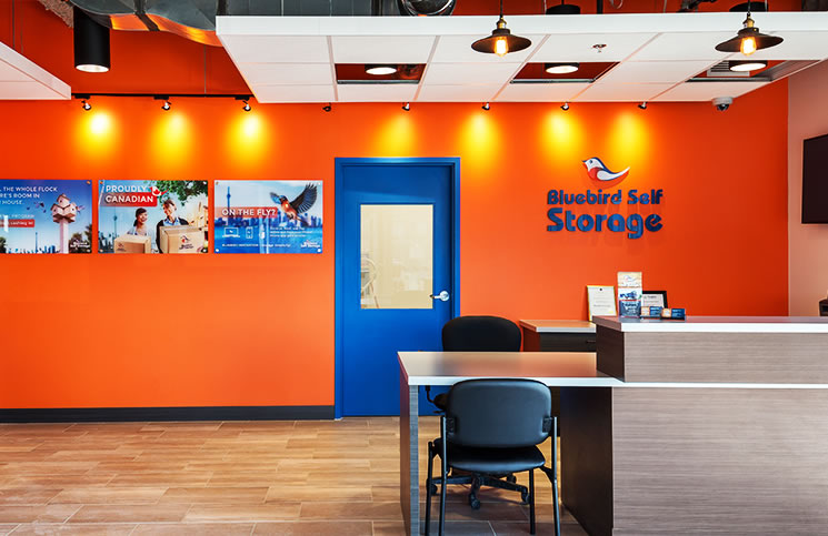 Bluebird strives to make their front offices inviting and pleasant for visitors. It offers free coffee and Wi-Fi.