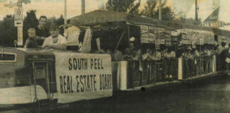 An early ad from the South Peel Real Estate Board, now the Mississauga Real Estate Board.