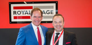 Phil Soper, left, and Manny Andrade open the new Royal LePage Supreme office.