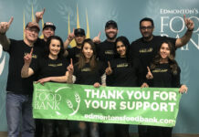 Everyone at the Realty One Group Insider office in Edmonton volunteered at the Edmonton Food Bank.