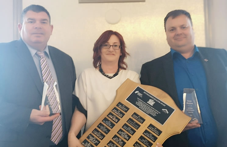 From left: Steven Bobiash, Bev LePage of CMHC and Dave Markus