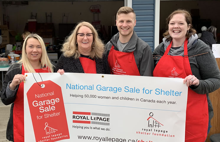 The National Garage Sale for Shelter event was hosted by Royal LePage Signature in Weyburn, Sask.