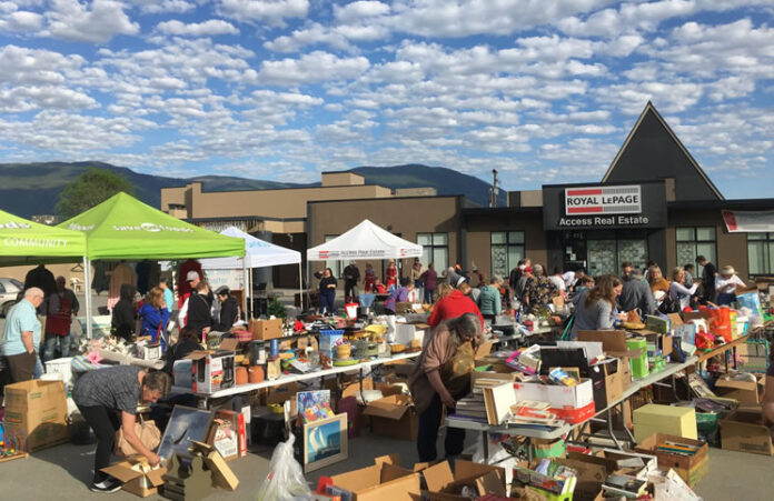 The National Garage Sale for Shelter event at Royal LePage Access Real Estate in Salmon Arm, B.C.