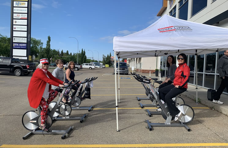 Royal LePage Noralta holds second Spin-a-Thon, raises $16,200 for