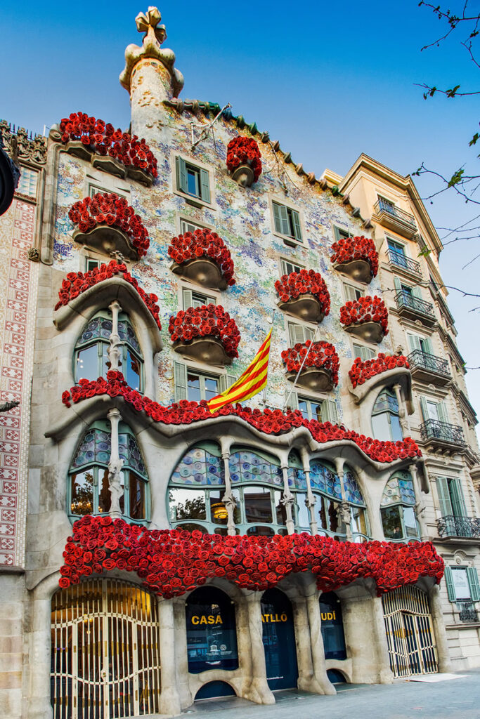 "Casa Batlló has sometimes been called the ""house of the dragon"" or the ""house of bones."""