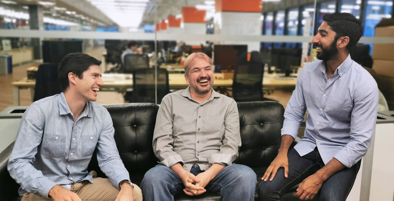 Properly is offering an iBuyer program in Calgary. The founders, from left: Sheldon McCormick, COO; Craig Dunk, CTO; and Anshul Ruparell, CEO.