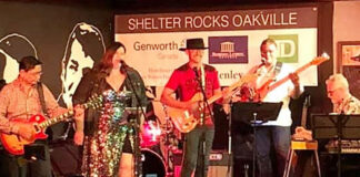 Phil Soper (centre) along with Gold Cure Society bandmates play at Shelter Rocks Oakville.