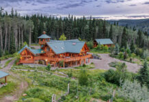 River House Estate sits on 384 acres in the harsh terrain of Northern British Columbia.
