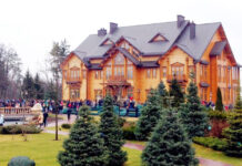 """Officially the home is called Mezhyhirya, but locals sometimes refer to it as the """"house of corruption""""."""