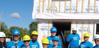 OREB members and staff participated for the seventh year in a row at the Habitat for Humanity build.