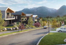A street view rendering of Holborn University Heights Phase II in Squamish, B.C.