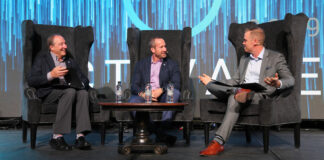 From left: Elton Ash, Adam Contos and Christopher Alexander during the Re/Max of Western Canada Activate Conference opening session.