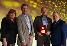 From left: Tami Bonnell, CEO, EXIT Realty Corp.; David Sawler and Philip Duplisea, Exit Realty Advantage; and Steve Morris, founder and chairman, Exit Realty Corp.