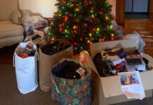 SGBAR members collected more than 500 socks, mitts and other accessories.