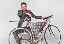 "With his personal brand, Real Estate By Bike, Basinski sets himself apart from other agents through his emphasis on ""cycling culture."""