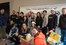 Dee Soriano asked clients to donate toys and clothes for victims of domestic violence.