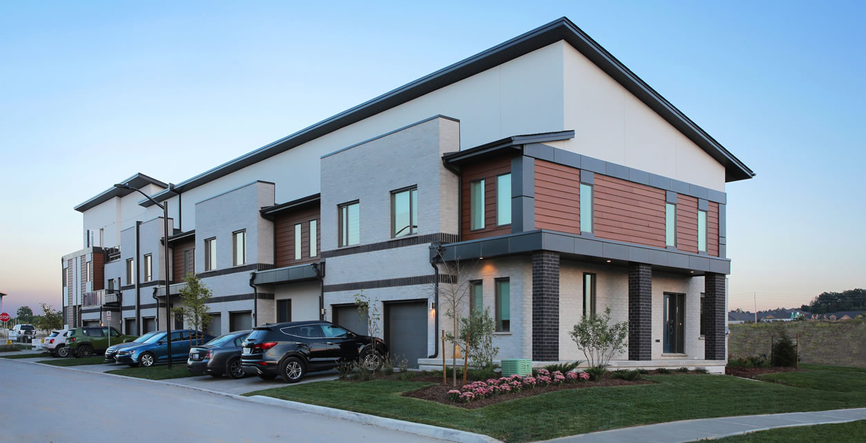 A net zero townhome by Sifton Properties in London, Ont.