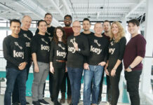 The Key Living team, from left: Yash Mody, director of product; Craig Shannon, CFO; Alex Tang, finance; Daniel Dubois, co-founder and president; Louisa Clements, marketing; Vithushan Namasivayasivam, technical lead; Rob Richards, co-founder and CEO; Mark Petrov, finance; Mark McLean, VP sales and business development; Derek Manuge, finance; Alison Simpson, CMO; Russell Kim, marketing and sales. Not present when the photo was taken: Mark Vandenbosch, community and government relations.