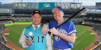 AJ Plant, left and Duncan MacDonald say finding and recruiting real estate agents is a lot like scouting baseball players – which MacDonald used to do for the Toronto Blue Jays.