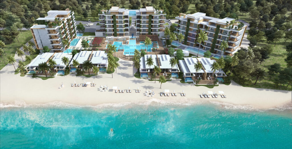 A rendering of the Alaia Belize, which is now under construction in Belize.
