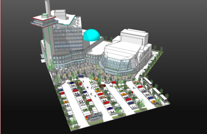 A rendering of the proposed Pacific Maritime Centre.