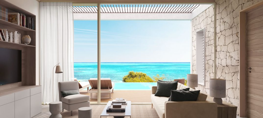 The view from a home at Rock House, from Glace Bay Resorts in Turks and Caicos Islands.