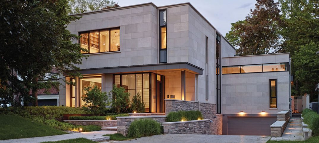 The 5,700-square-foot house nestles into the landscape.