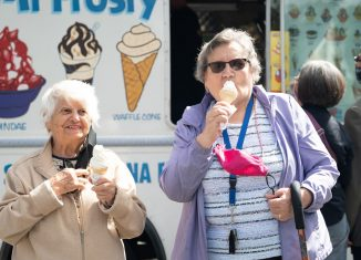 Residents from a nearby seniors home were invited to the event.